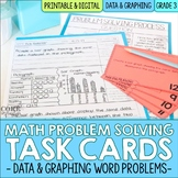 Data and Graphing Word Problem Solving Task Cards for Third Grade Math