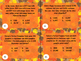 Math Problem Solving Task Cards Fall Version