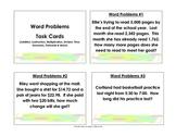 Problem Solving Task Cards: Grade 3