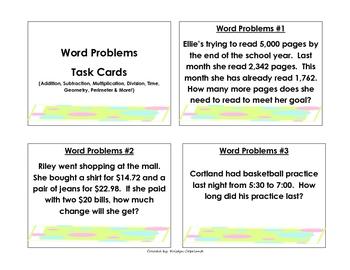 problem solving task cards grade 3 by copeland 39 s got class tpt. Black Bedroom Furniture Sets. Home Design Ideas