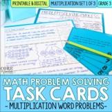 Multiplication Word Problem Solving Task Cards for Third Grade Math | Set 3 of 3