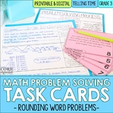 Telling Time & Elapsed Time Word Problem Solving Task Cards for Third Grade Math
