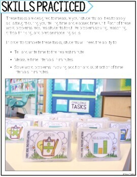 telling time elapsed time word problem solving task cards for third grade math. Black Bedroom Furniture Sets. Home Design Ideas