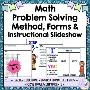 Math Problem Solving How-To Slideshow & Forms - Instructional Methods