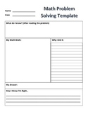 Math Problem Solving Template