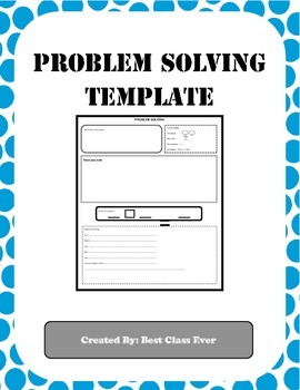 Math Problem Solving Template