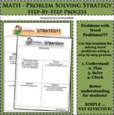 Math Problem Solving Template Word Problem Strategy Plan Graphic Organizer #1