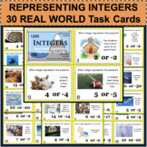 INTEGERS Real World Applications Positive Negative Task Cards