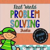 Word Problem Solving (3rd-5th) FREEBIE