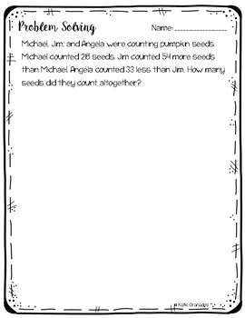 Math Problem Solving Word Problems Pack | 3rd Grade | CCSS Aligned