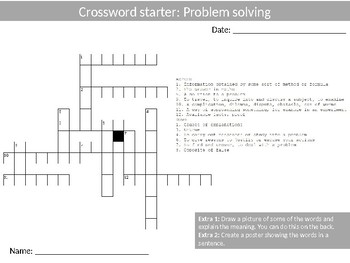 Math Problem Solving Wordsearch Crossword Anagram Alphabet Keyword Starter