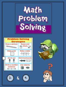 Math Problem Solving Workbook - Word Problems for your Third or Fourth Graders