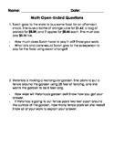 Math Problem Solving Worksheets