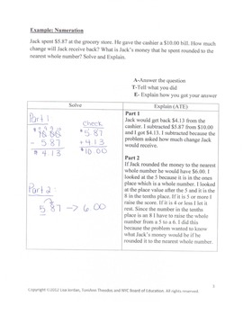 Math Problem Solving Worksheets - How to write a mathematical explanation (ATE)
