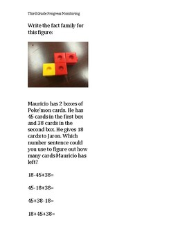 Math Problem Solving for Third Grader STAAR and Common Core