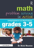 Math Problem Solving in Action Getting Students to Love Word Problems,Grades 3-5