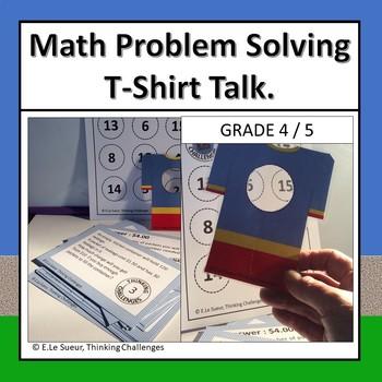 Math Problem Solving task cards: T-Shirt Talk.
