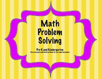 Kinder Math Problem Solving  Task Cards