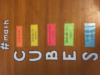 Math Problem Solving - wall display - CUBES, #MATH