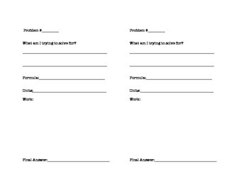Math Problem Template PDF