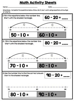 1st Grade Math Number Sense and Place Value Print and Practice
