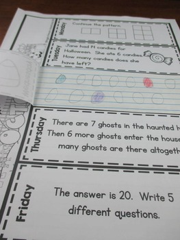 Math Problem of the Day for Second Grade:  October