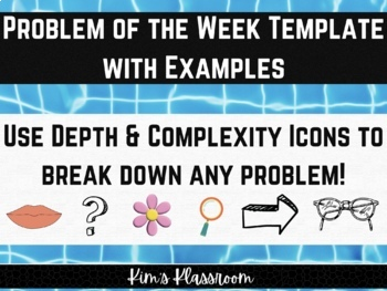 Math Problem of The Week Organizer and Rubric (use with any problem)