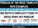 Math Problem of The Week Organizer and Rubric (use with an