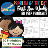 3rd Grade Math Problem of the Day 1st Six Weeks TEKS CCSS