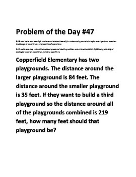 Math Problem of the Day 2.4BC-4 two digit and multi step