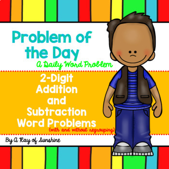 2-Digit Addition and Subtraction Word Problems {Problem of the Day}