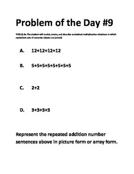 Math Problem of the Day-2.6A TEKS-Multiplication (Math Series)