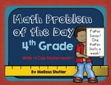 Math Problem of the Day Pack- 4th grade Formative Assessment
