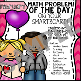 FREE - SmartBoard Math Problem of the Day - Valentine's Da