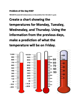 Weather graphing worksheet teaching resources teachers pay teachers math problem of the day tek 210d weather graphs fandeluxe