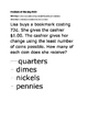 Math Problem of the Day TEK 2.1A, 2.5A-Counting Coins