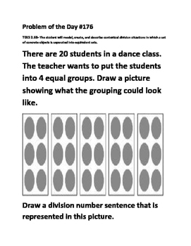 Math Problem of the Day (TEK 2.6B-Division)