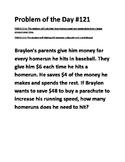 Math Problem of the Day TEKS 2.11A TEKS 2.11C (Financial Literacy)