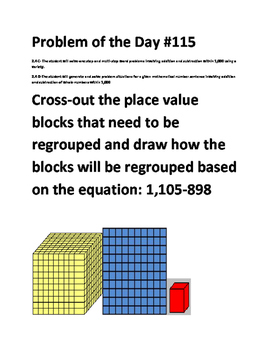 Math Problem of the Day-TEKS 2.4C, 2.4D (Multi-Step Models)