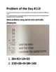 Math Problem of the Day-TEKS 2.4C, 2.4D (Multi-Step Models)