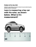 Math Problem of the Day TEKS 2.9D Measuring with A Ruler