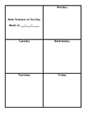 Math Problem of the Day Template