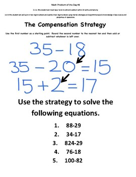 Math Problem of the Day Volume 2-2.4AB Addition and Subtraction