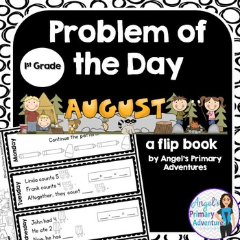 Math Problem of the Day for First Grade:  August