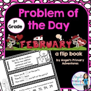 Math Problem of the Day for First Grade:  February