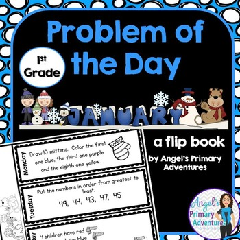 Math Problem of the Day for First Grade:  January