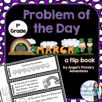 Math Problem of the Day for First Grade:  March