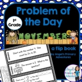 Math Problem of the Day for First Grade:  November