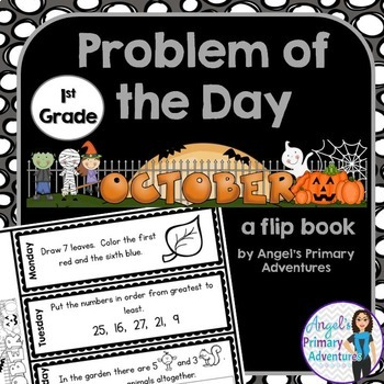 Math Problem of the Day for First Grade:  October
