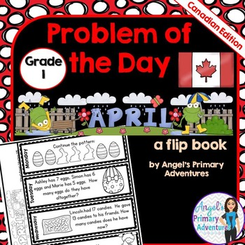 Math Problem of the Day for Grade 1:  April (Canadian Edition)
